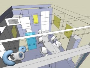 Exemple de visuels 3D concernant le réaménagement d'une agence immobilière à Monaco
