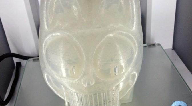 Exemple d'impression et structure du remplissage d'un objet 3D en PLA