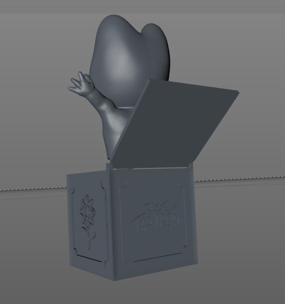 Chat Rose 3D en Diablotin