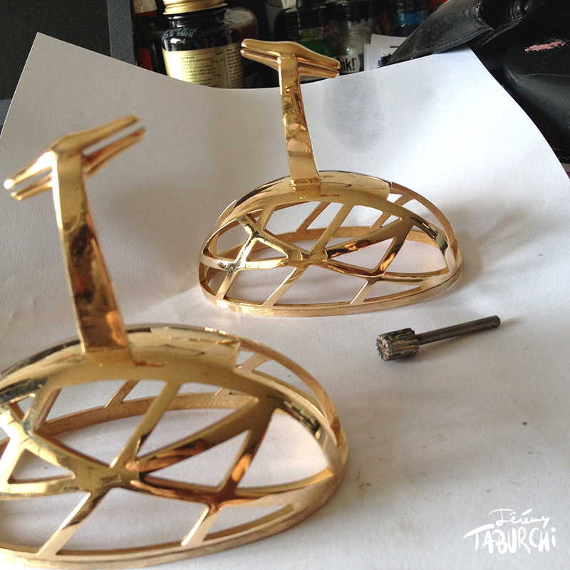 Impression 3D métal et sculpture numérique d'une oeuvre d'art de Jérémy Taburchi