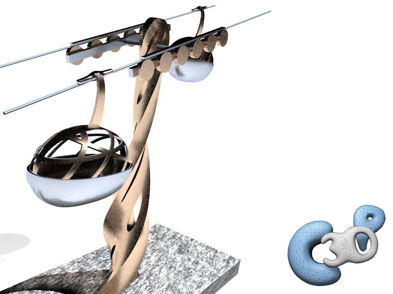 La fabrique d'un objet 3D, partie 2 : Rendu 3D du projet. Les étapes de la réalisation d'une sculpture 3D, de sa modélisation à sa fabrication. Un projet de Jérémy Taburchi / Crea3Dprint.com.